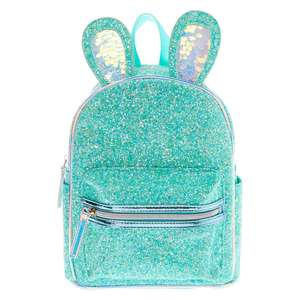 Glitter Bunny Small Backpack - Mint - £12.50 (+£3.50 Shipping) @ Claire's