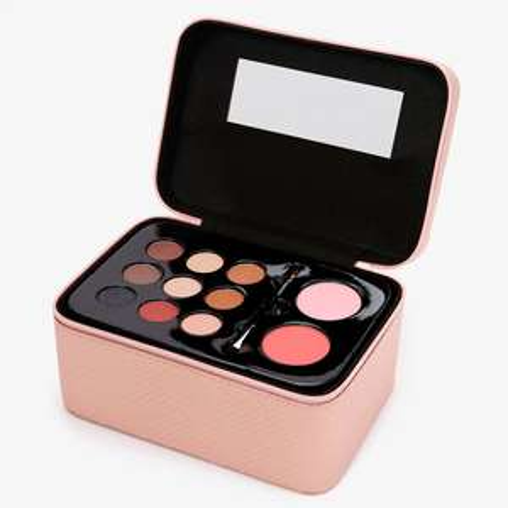 Metallic Quilted Travel Case Makeup Set - Blush Pink £26 delivered @ Claires