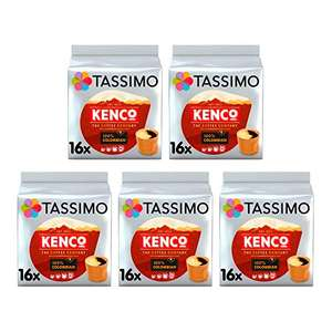 Tassimo Kenco Colombian Coffee Pods (Pack of 5, 80 servings) - £14.79 Prime / +£4.49 non Prime @ Amazon