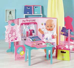 Baby Born's Ultimate Pop-Up Shop Playset with Till & Accessories - £4.99 delivered @ Argos / eBay