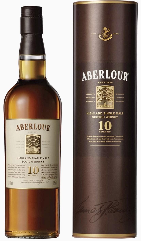 Aberlour 10 Year Old Single Malt Scotch Whisky, 70 cl (Double Cask Matured)   £20   Amazon
