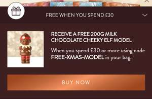 Free 200G milk chocolate model when you spend £30 at Thorntons