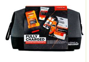 Half price L'Oreal Men Expert Fully Charged Wash Bag 4 Piece Gift Set £10 + £1.50 CC @ Boots