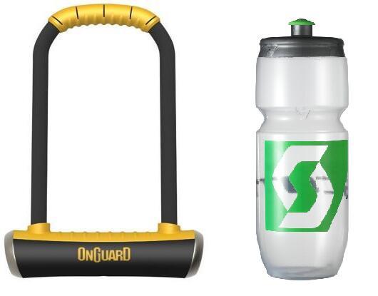 OnGuard Brute Lock Shackle U-Lock Bike Lock (Gold sold secure) + Scott 700ml Water Bottle - £25.43 delivered (via Newsletter Signup) @ Tredz