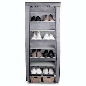 10 Tier Shoe Rack with Canvas Cover at Roov for £12.94 delivered
