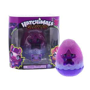 Hatchimals 6055035 - Glow Up, 3-Inch Magic Dusk Collectible Figure with Glow-in-the-Dark Wings £3.99 + £3.49 del at Home Bargains