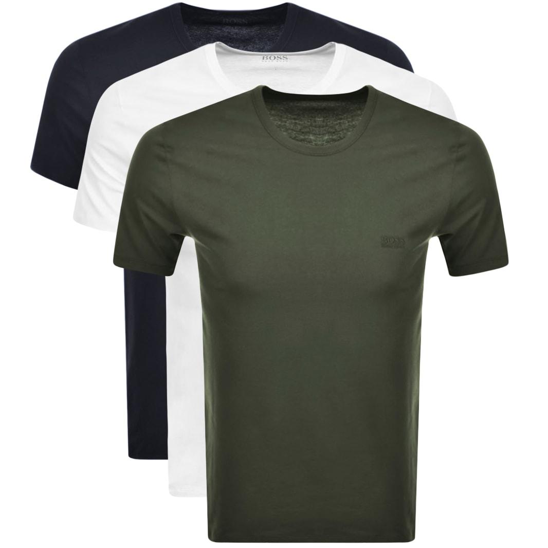 BOSS Multi Colour Triple Pack T Shirts £28 + £3.50 del at Mainline Menswear