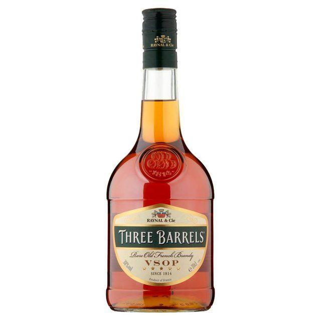 Three Barrels VSOP French Brandy, 70cl £13 at Morrisons