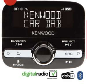 Kenwood DAB / Bluetooth car adaptor £59.95 with free next day delivery
