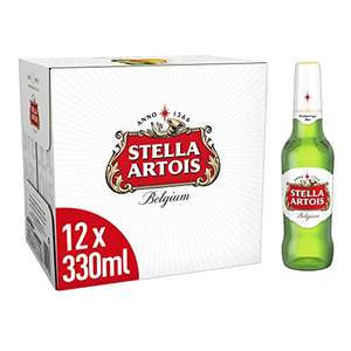 Stella Artois Premium Lager Beer Bottles, 12x330ml £8.49 @ Amazon Prime (+£4.49 Non Prime)