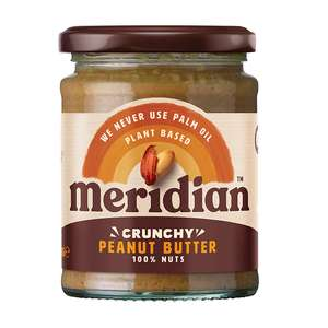 Meridian Natural Crunchy Peanut Butter 280g Only 75p in store