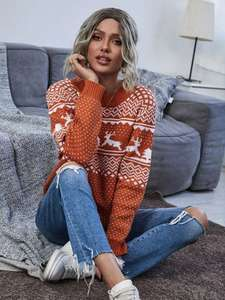 Christmas round neck jumper. Various colours and sizes £10.99 +£4 delivery @ Shein
