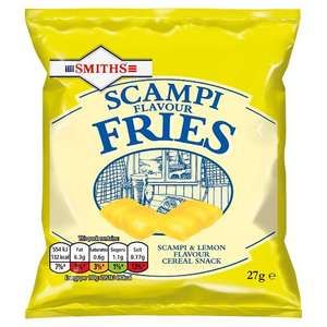 Smiths Scampi Flavour Fries 27g 3p Per bag each + £3 del @ Approved Food