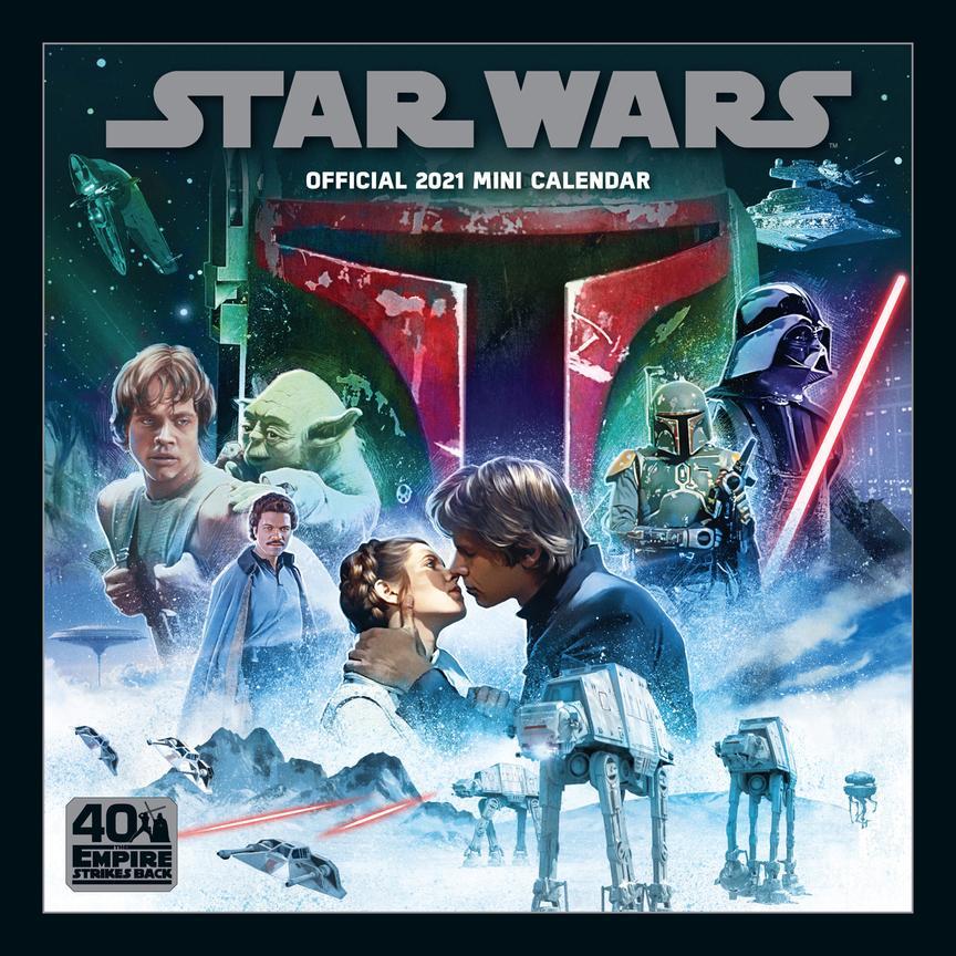 Danilo Official Star Wars Mini Wall Format Calendar 2021 - £4.59 @ Amazon (+£4.49 Non-Prime)