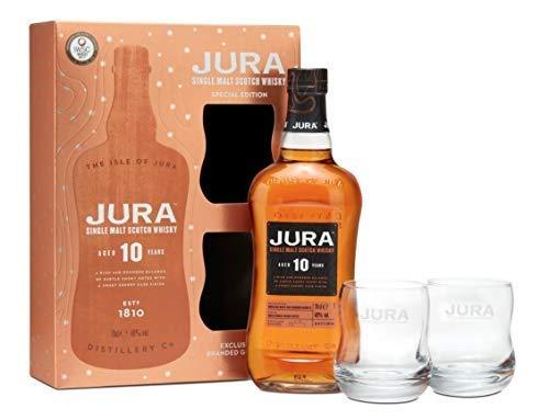 Jura Whisky 10 Year Old Single Malt 2 Glasses Gift Pack 70 cl - £28 @ Amazon