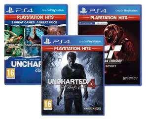 Uncharted 4: A Thief's End // The Nathan Drake Collection //Gran Turismo (PlayStation Hits) - £7 each Delivered @ ao.com
