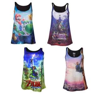 Ladies Vest Tops - Super Mario Galaxy & Various Legend of Zelda Designs - £8.98 - £10.98 Each Delivered @ Geekcore