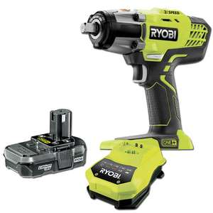 Ryobi One+ R18IW3 400nm 3 Speed Impact Wrench Kit With 1.3Ah Battery £106.80 at Machine Mart