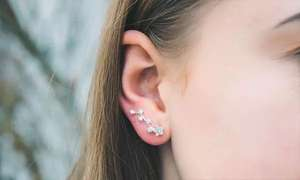 One Pair of Philip Jones Star Climber Earrings with Crystals from Swarovski® delivered for £5.97 at Groupon