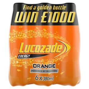 Lucozade Energy 6 pack £2 at Sainsbury's