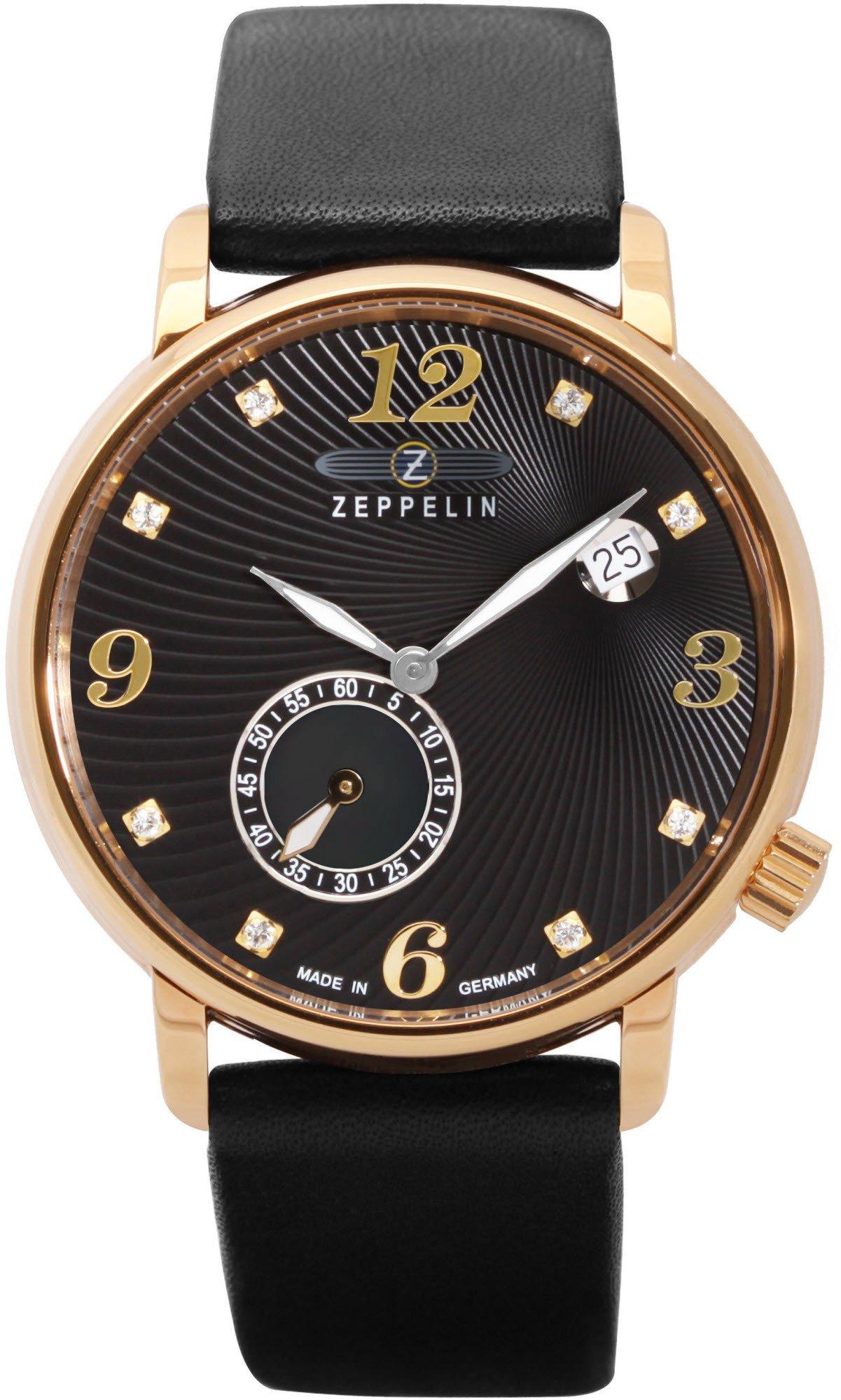 Zeppelin 7633-2 Luna 35mm Quartz Watch, Ronda 6004.D, 50M WR, MOP Dial, Swarovski Crystals, Leather Strap £133.50 @ Amazon