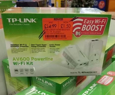 TP Link AV600 Powerline Wifi Kit £1.50 at Homebase Bridgend