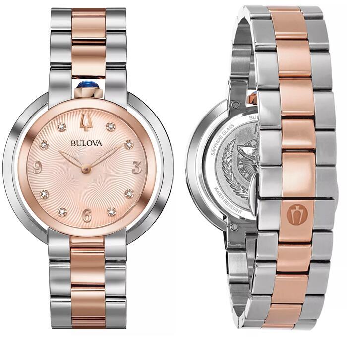 Bulova Ladies' Rubaiyat Two Tone Bracelet Watch [98P174] - Sapphire Glass & 3 Year Warranty - £167.20 Delivered Using Code @ H.Samuel