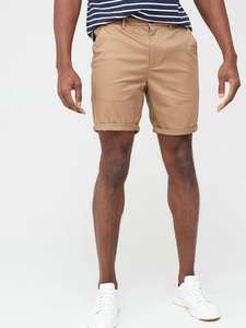 River Island Vienna Skinny Fit Chino Shorts - Tan Sizes in stock £7.80 @ Very (£3.99 Delivery)