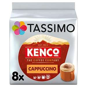 Tassimo kenco Cappuccino Coffee Pods (Pack of 5, Total 80 pods, 40 servings) £14.88 prime / £19.37 nonPrime / £12.05 with S&S Amazon