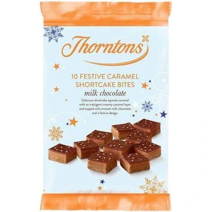 Thorntons Festive Caramel Shortcakes Bites 10 Pack 80p Clubcard price @ Tesco