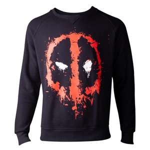 Official Deadpool Dripping Face Sweatshirt £15.98 delivered @ Geekcore