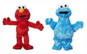 "Sesame Street Elmo & Cookie Monster 8"" 20cm Super Soft Plush Toy Set Of 2 Now £6.95 Delivered From TopToys2U"