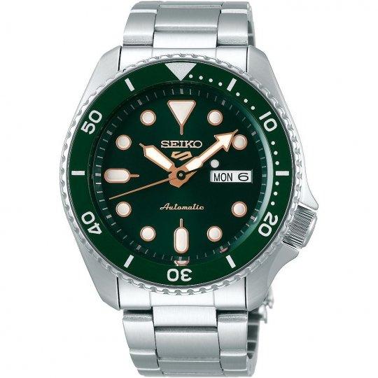 Seiko 5 Sports Automatic Watch - Green SRPD63K1 (and free Sekonda Watch) £153 at The Watch Hut