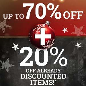 Up to 70% Off Sale + Extra 20% Off using code + Free delivery on £45 spend (otherwise £3.99) @ EMP