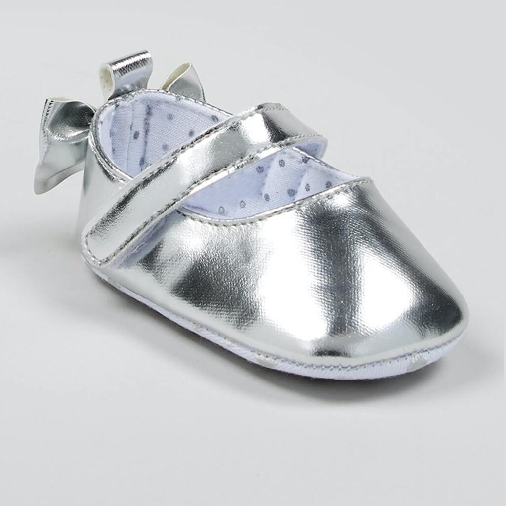 Girls Metallic Baby Ballet Shoes (Newborn-12mths) now £2.00 click & collect @ Matalan