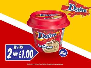 Daim/Haagen-Dasz Salted Caramel Ice Cream Mini Tubs are 2 For £1 @ Fultons Foods (Rochdale)