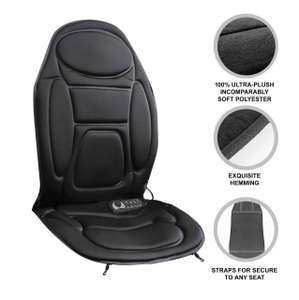 Car Seat Back Massager Heated Remote Control Massage Chair Home Van Cushion £24.99 at ebay thinkprice
