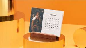 Free Easel Photo Calendar with Photobox App - £2.99 Delivery