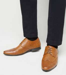 Tan Leather-Look Lace Up Brogues Sizes 8/9/10 - £11.49 + £1.99 Click and Collect / £2.99 delivery @ New Look