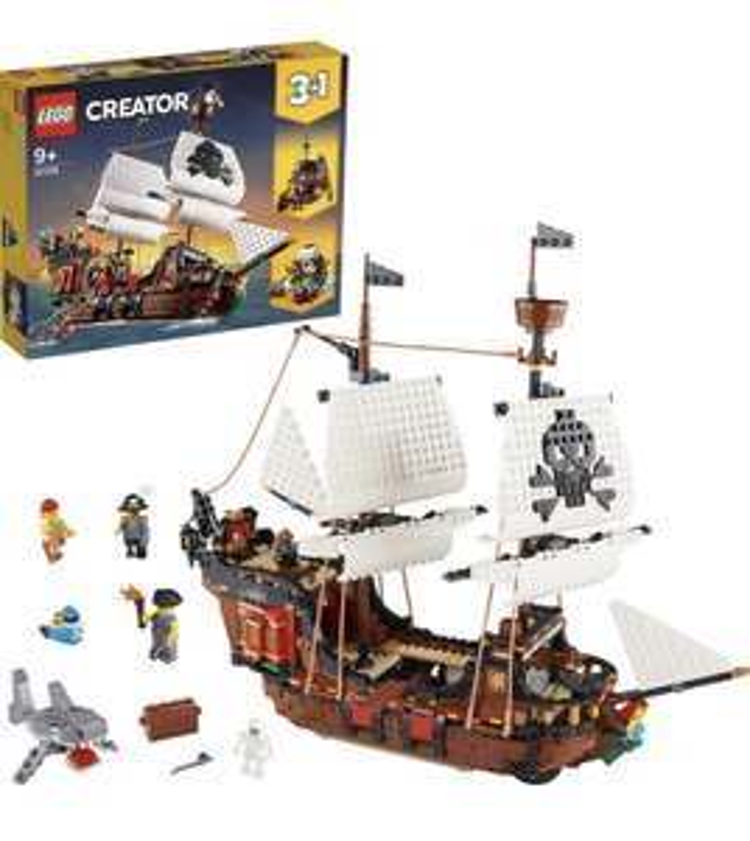 LEGO Creator 31109 Pirate Ship £66.63 (£64.25 with FFC) @ Amazon DE