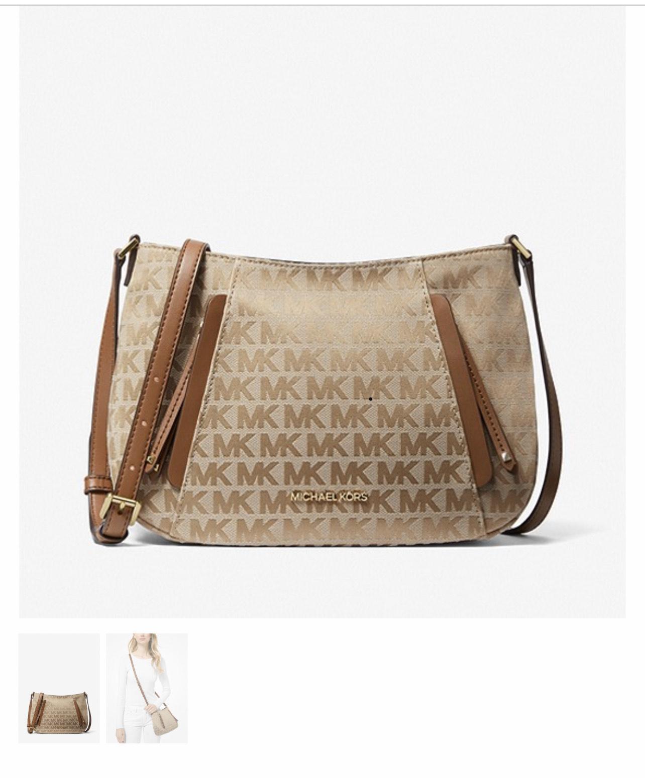 MICHAEL MICHAEL KORS Evie Medium Logo Jacquard Messenger Bag £89 Michael Kors Shop