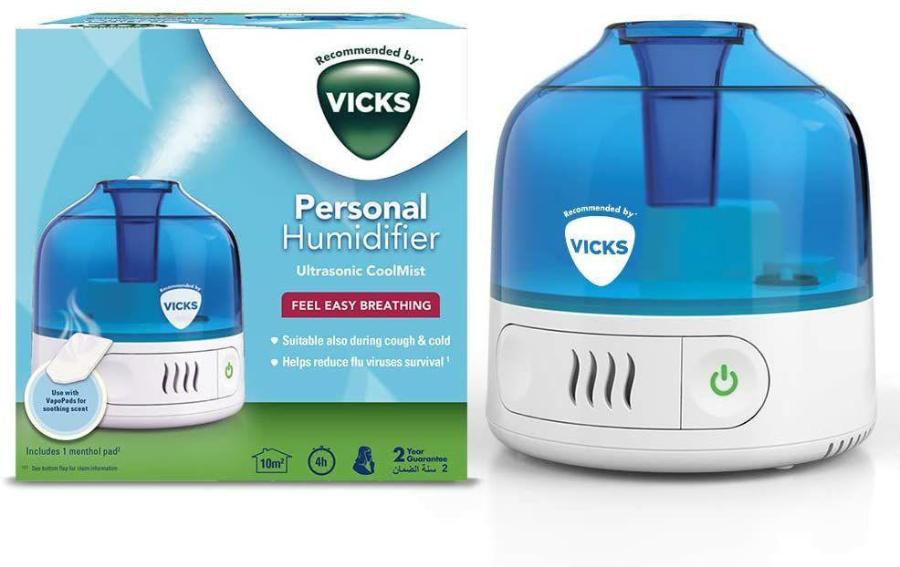 Vicks VUL505 Cool Mist Personal Humidifier, White £19.99 @ Amazon (£4.49 p&p non prime)
