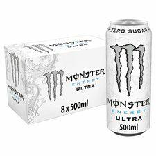 Monster Energy White Ultra 8 Pack @ Tesco - £6 (Clubcard Price)