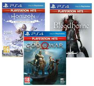 Horizon Zero Dawn Complete Edition/God of War/Bloodborne/God of War 3 Remastered/Gran Turismo Sport PS HITS (PS4) - £7.99 each @ Simplygames
