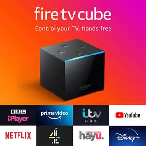 Fire TV Cube   Hands free with Alexa, 4K Ultra HD streaming media player £79.99 Amazon