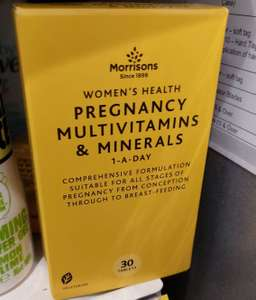 Morrisons Pregnancy multi vitamins and minerals - 30 tablets 75p in Morrisons Hyde branch