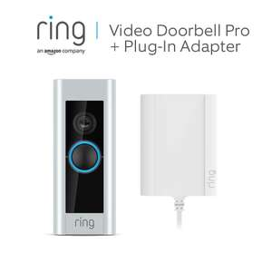 Ring Video Doorbell Pro with Plug-In Adapter, 1080p HD, Two-Way Talk, Wi-Fi, Motion Detection £139 Amazon
