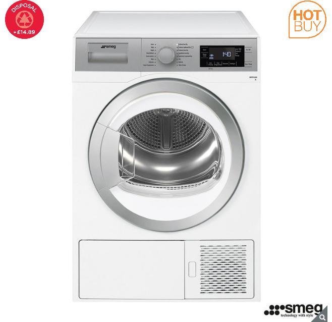 Smeg DHT91LUK, 9kg, HeatPump Tumble Dryer A+ Rating in White £429.99 Costco