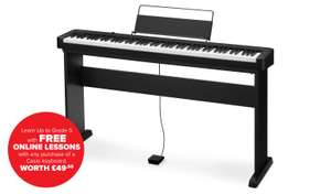 Casio CDP-S100BKC5ST Full Weighted 88 Key Digital Piano with Stand + Free Piano Lessons (worth £49.99) for £320 @ Argos (free click+collect)