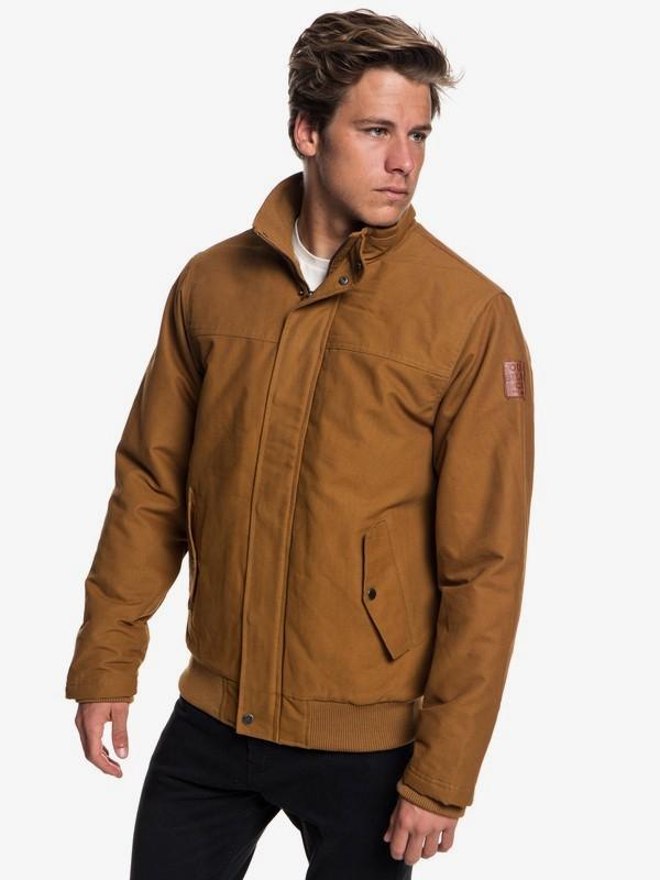 Double discount mens surfwear - Brooks Full Zip - Water Repellent Jacket £31.50 @ Quiksilver Shop